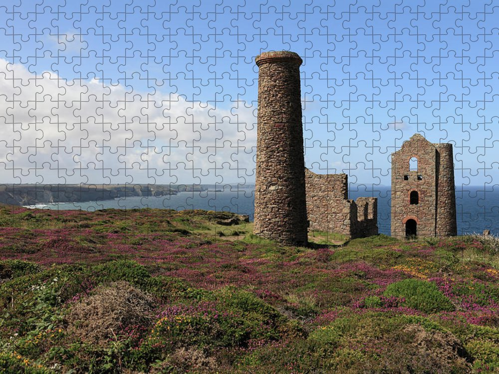 Heather Puzzle featuring the photograph Ruin Of Wheal Coates Tin Mine, Near St by Anthony Collins