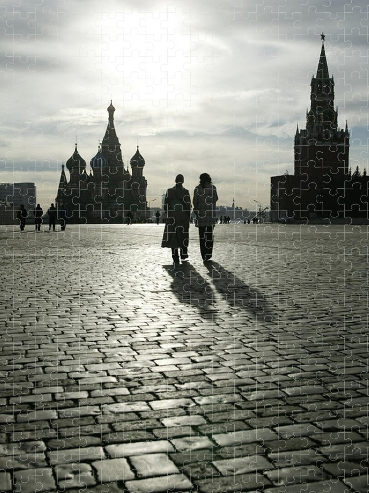 Shadow Puzzle featuring the photograph Russia, Moscow, Red Square, Silhouette by Will & Deni Mcintyre
