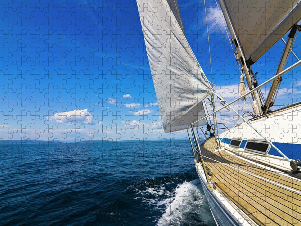 Scenics Puzzle featuring the photograph Sailing by Gaspr13