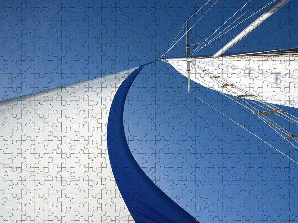 Curve Puzzle featuring the photograph Sailing by Tammy616