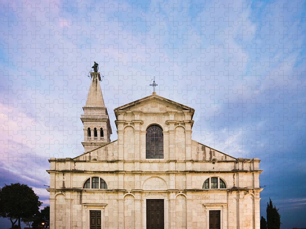 Outdoors Puzzle featuring the photograph Saint Euphemia Church by David Madison