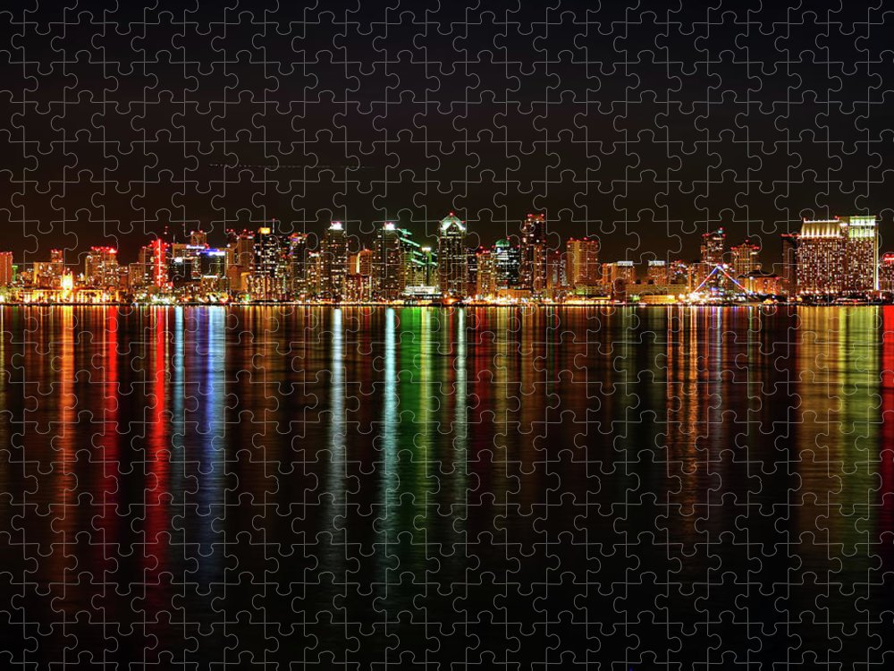 California Puzzle featuring the photograph San Diego Skyline From Harbor Island by David Toussaint