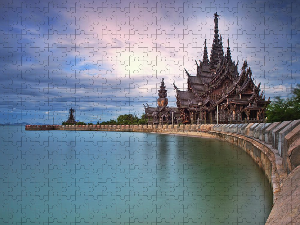 Tranquility Puzzle featuring the photograph Sanctuary Of Truth by Nutexzles