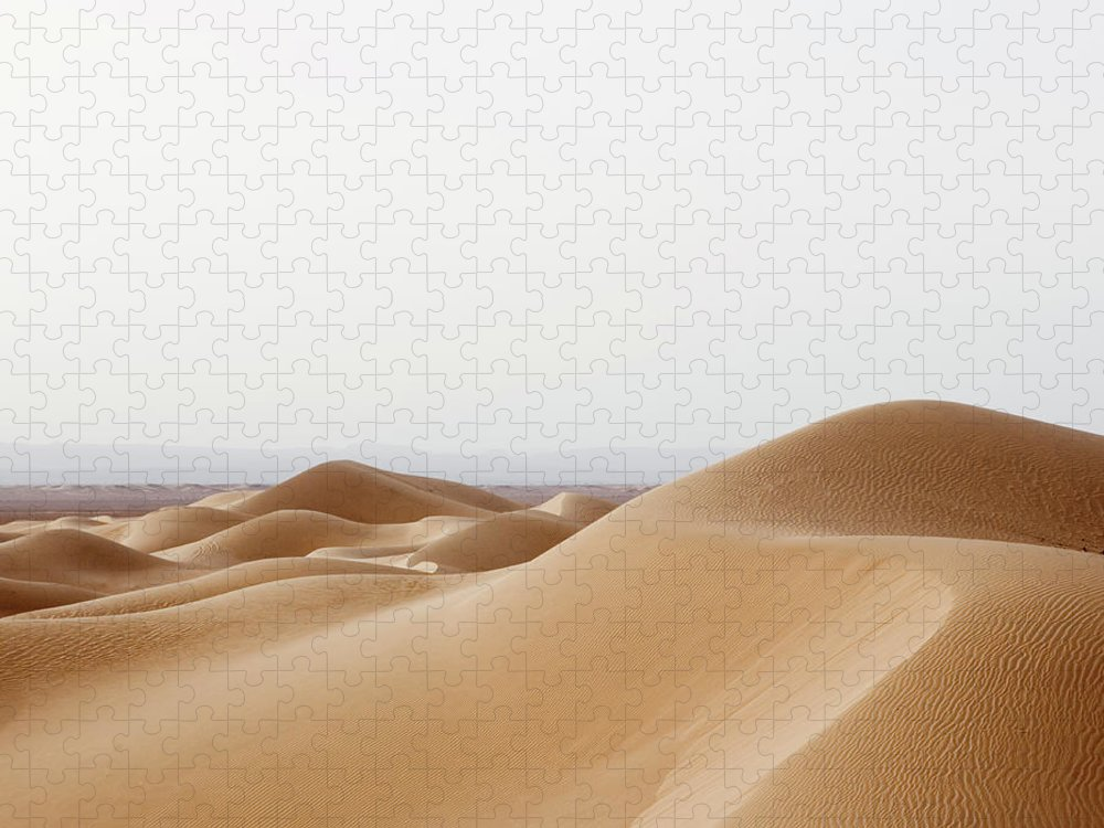 Sand Dune Puzzle featuring the photograph Sand Dunes In The Desert by Roine Magnusson
