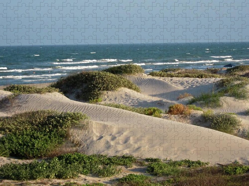 Tranquility Puzzle featuring the photograph Sand Dunes by Joe M. O'connell