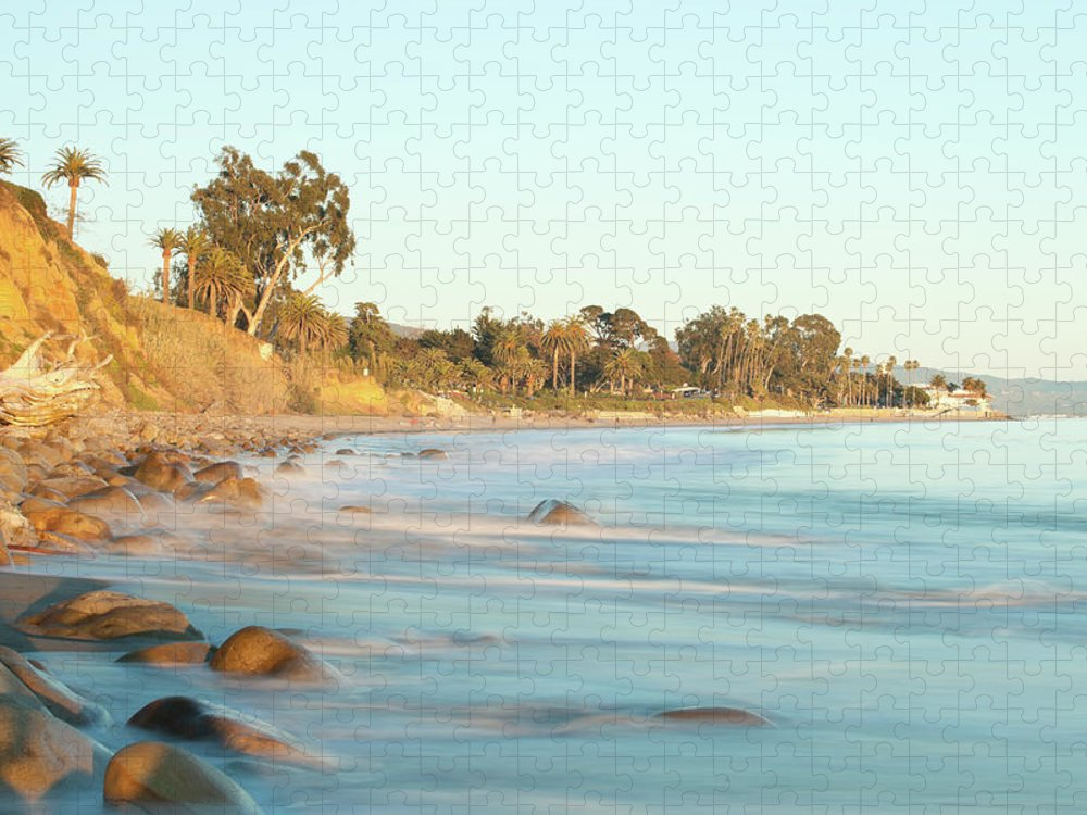 Water's Edge Puzzle featuring the photograph Santa Barbara by Andrewhelwich