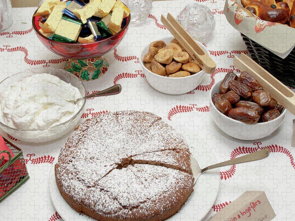 Homemade Puzzle featuring the photograph Scandinavian Dessert Smorgasbord by Steve Skjold