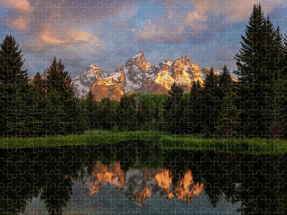 Tranquility Puzzle featuring the photograph Schwabacher Sunrise by Hansrico Photography