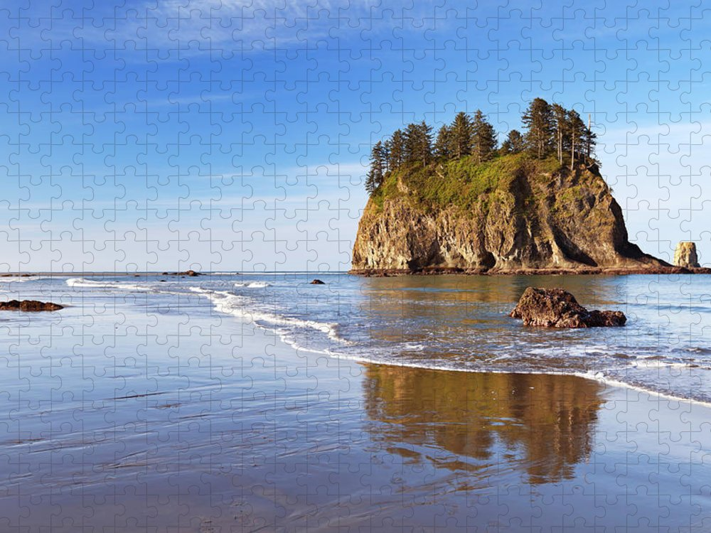Scenics Puzzle featuring the photograph Second Beach On The Olympic Peninsula by Sara winter