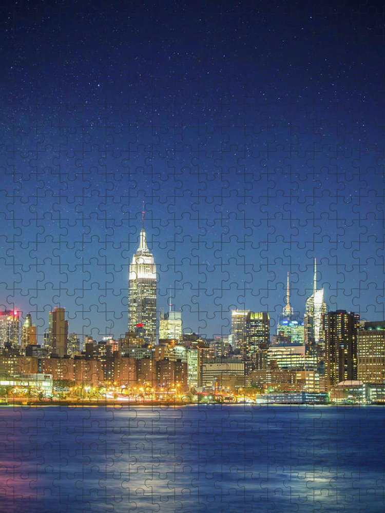 Scenics Puzzle featuring the photograph Shiny New York by Xavierarnau