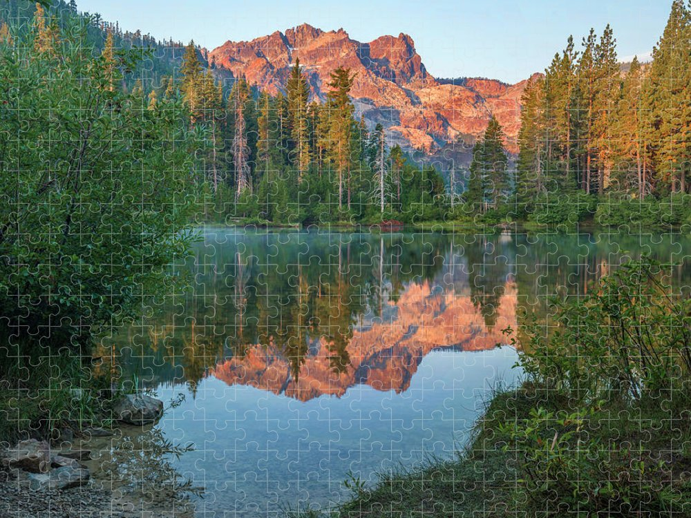 00574849 Puzzle featuring the photograph Sierra Buttes From Sand Pond, Tahoe National Forest, California by Tim Fitzharris
