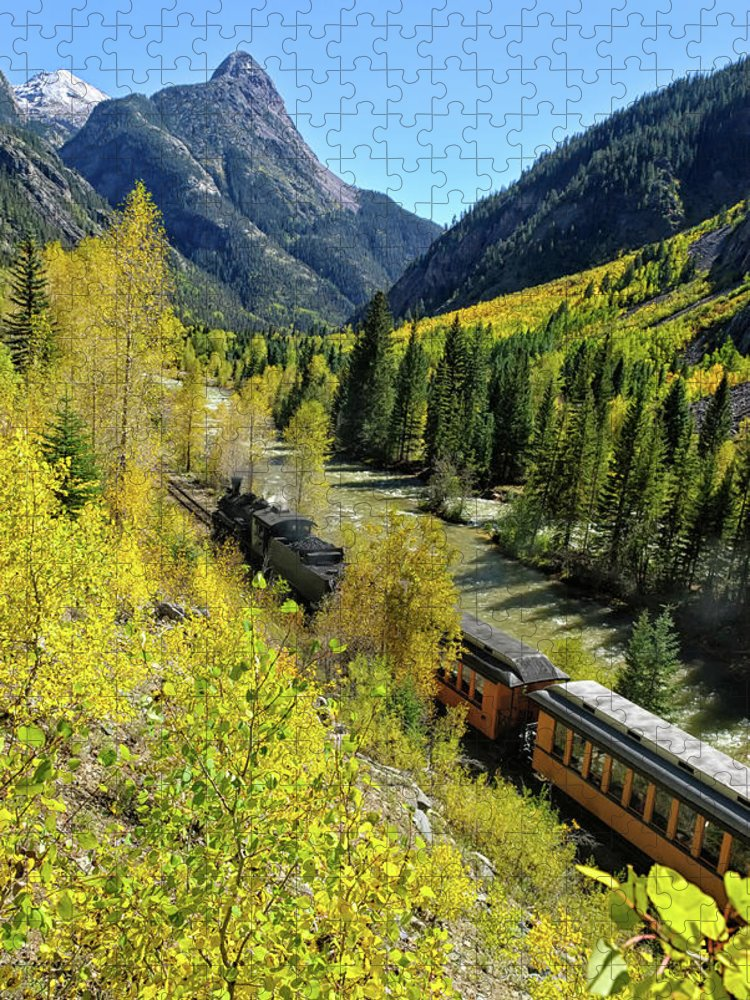 San Juan Mountains Puzzle featuring the photograph Silverton Durango Railroad by Adventure photo
