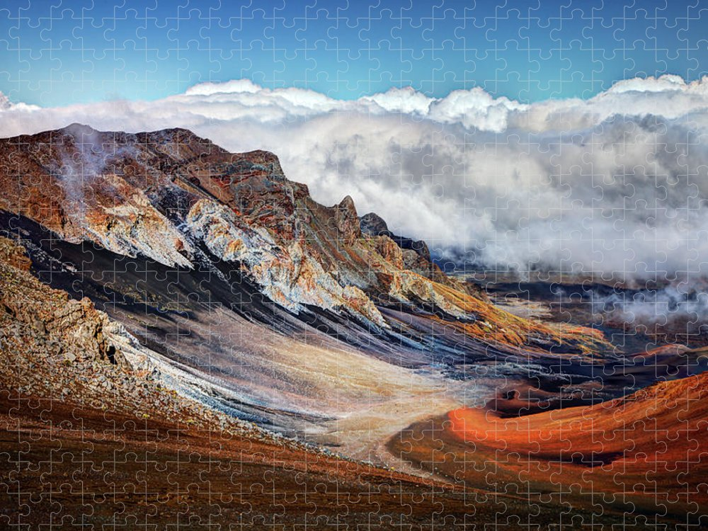 Scenics Puzzle featuring the photograph Sliding Sands Trail, Haleakala National by Ed Freeman