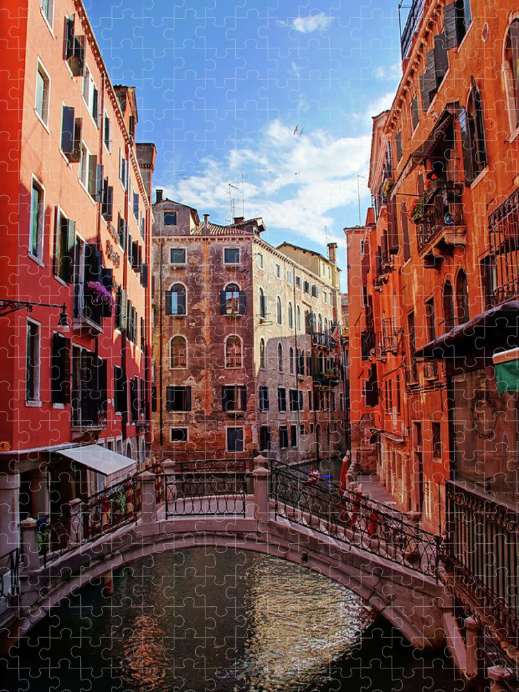 Arch Puzzle featuring the photograph Small Canals In Venice Italy by Totororo