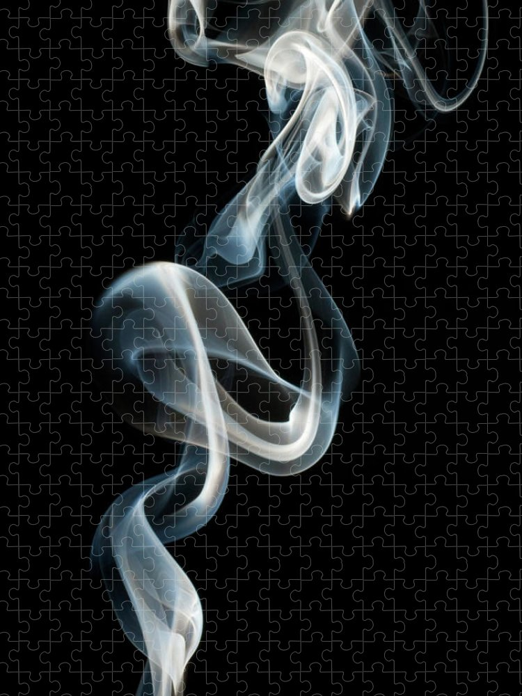 Black Background Puzzle featuring the photograph Smoke by Vando Nascimento