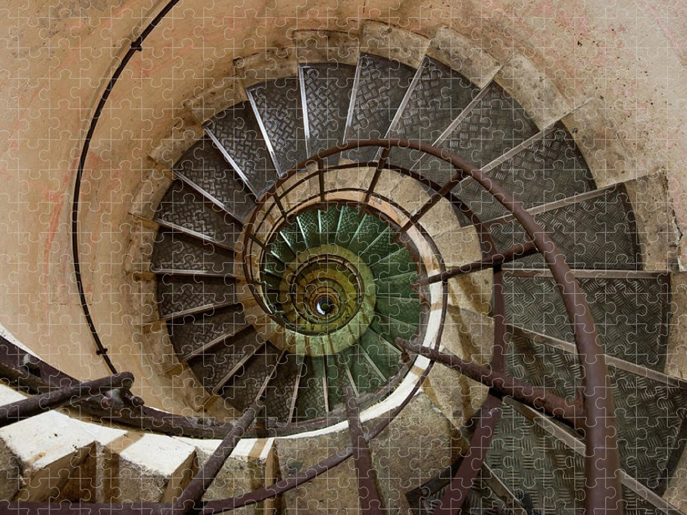 Built Structure Puzzle featuring the photograph Spiral Staircase In The Arc De by Mint Images/ Art Wolfe