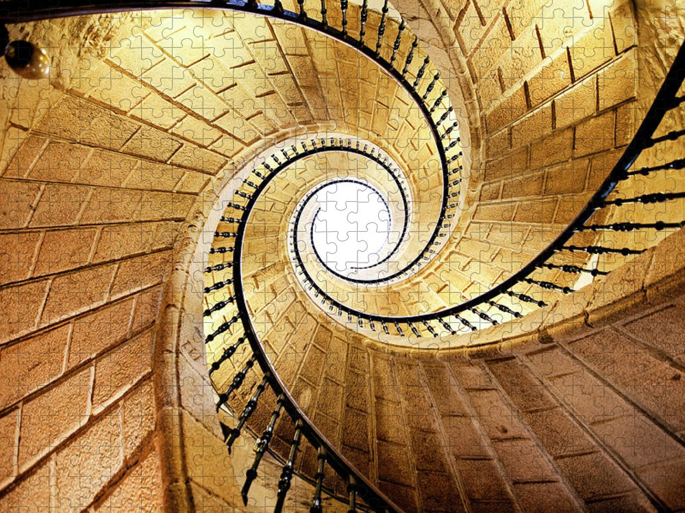 Steps Puzzle featuring the photograph Spiral Staircase by Orbon Alija
