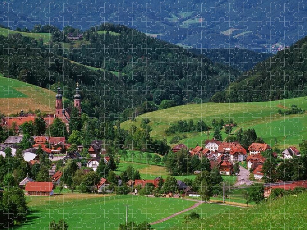 Architectural Feature Puzzle featuring the photograph St. Peters Abbey, Black Forest, Germany by Bilderbuch  / Design Pics