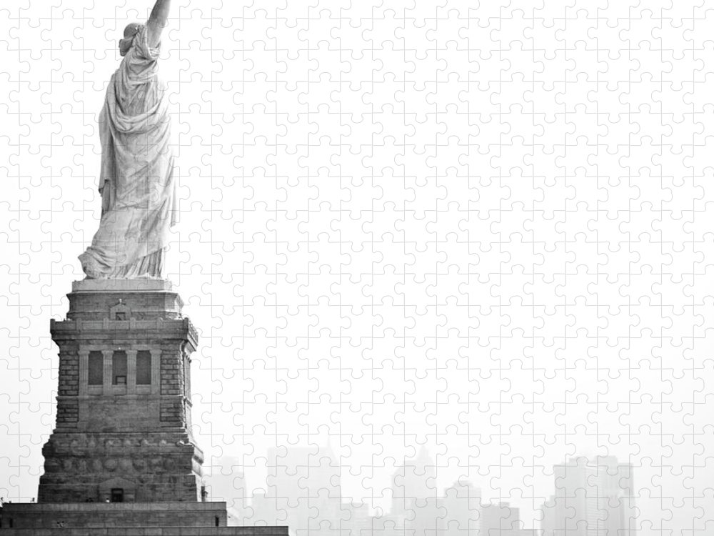 Statue Puzzle featuring the photograph Statue Of Liberty by Image - Natasha Maiolo
