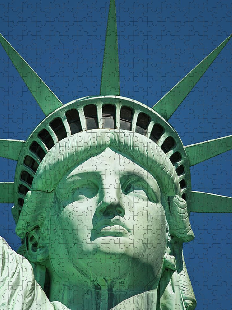 Crown Puzzle featuring the photograph Statue Of Liberty by Tetra Images