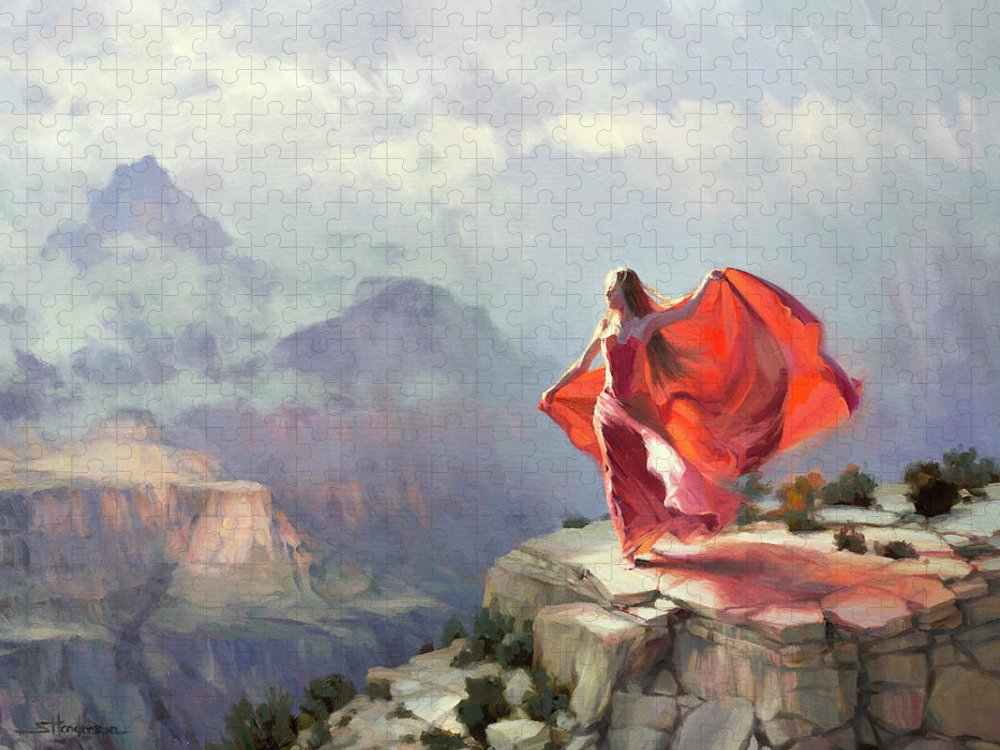 Southwest Puzzle featuring the painting Storm Maiden by Steve Henderson