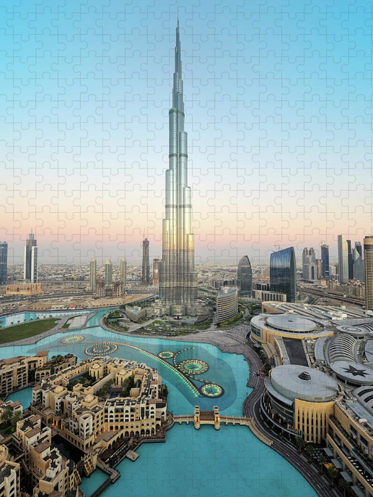 Dawn Puzzle featuring the photograph Stunning Dubai by Dblight
