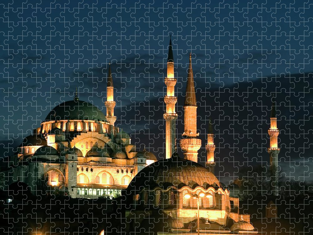 Istanbul Puzzle featuring the photograph Suleymaniye Mosque Istanbul by Lebazele