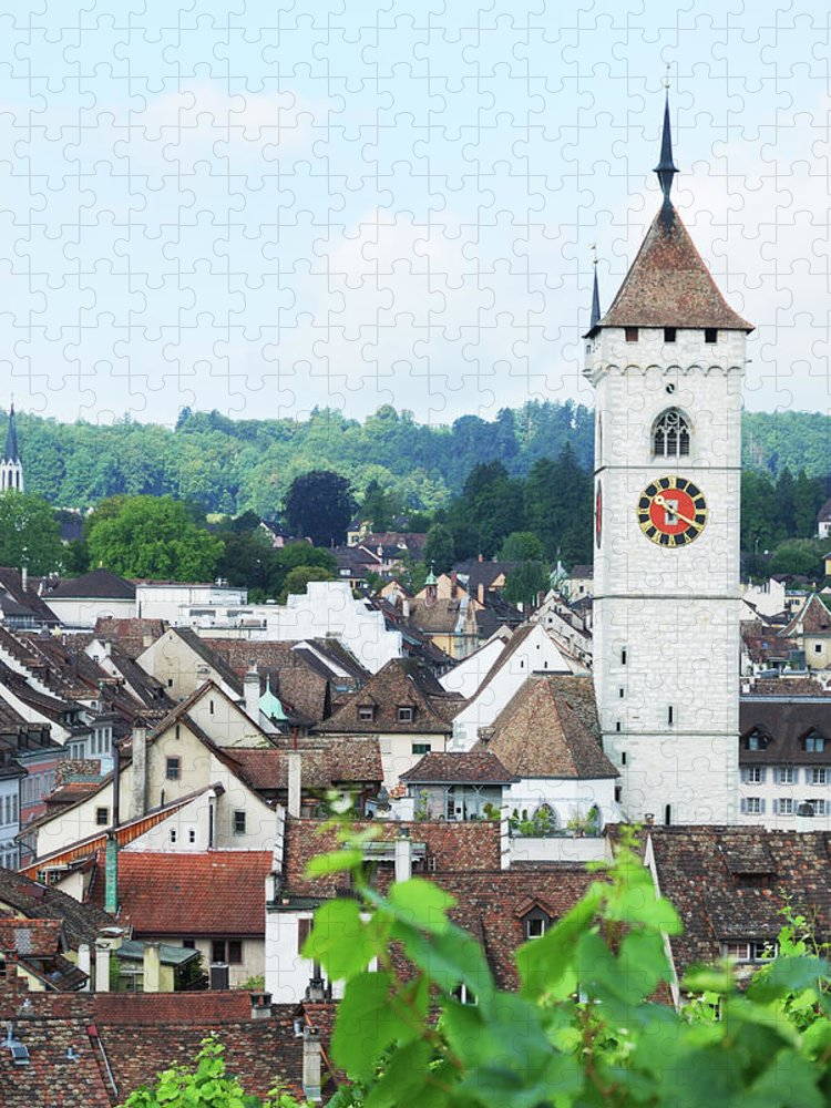 Outdoors Puzzle featuring the photograph Summer View Of Schaffhausen by Oks mit