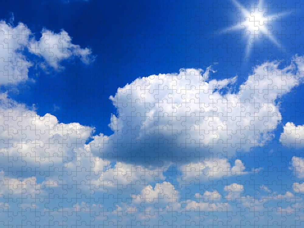 Scenics Puzzle featuring the photograph Sun And Clouds by Macroworld