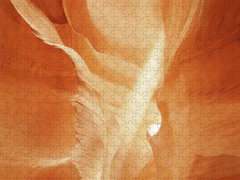 Antelope Canyon Puzzle featuring the photograph Sunlight In Antelope Canyon, Arizona by Robert Glusic