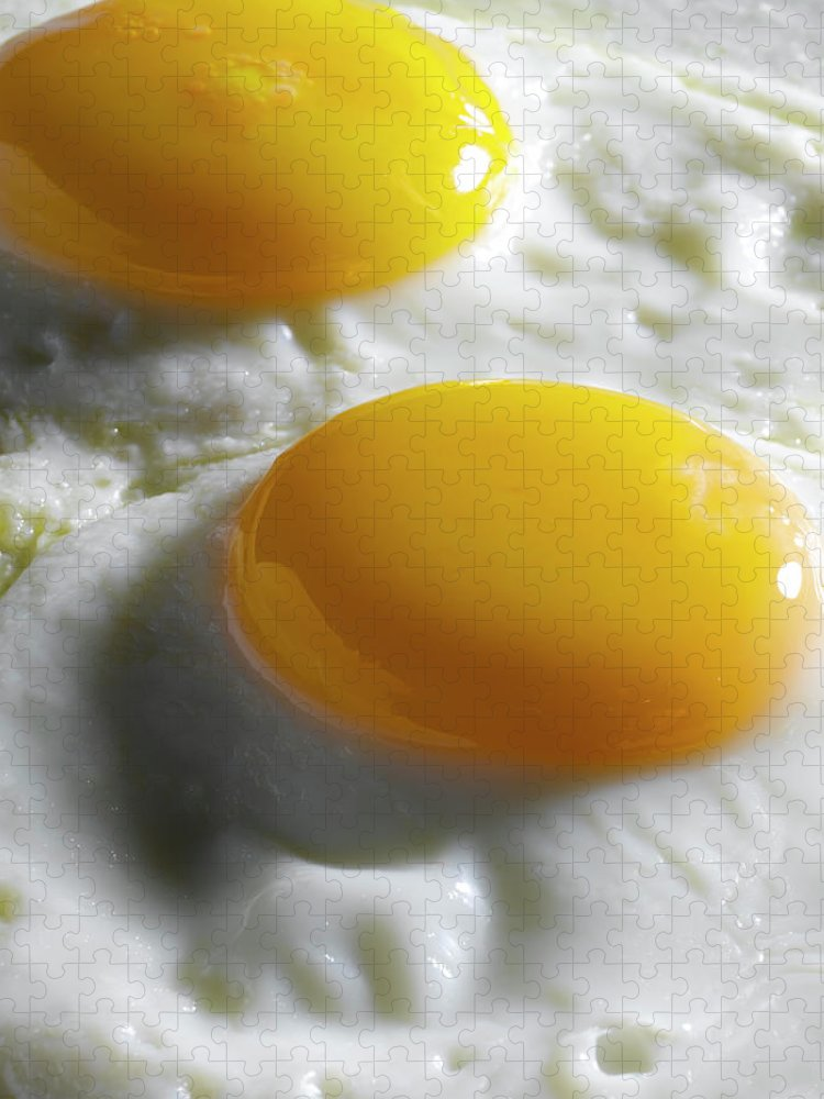 Breakfast Puzzle featuring the photograph Sunny Side Up Fried Eggs by Howard Bjornson