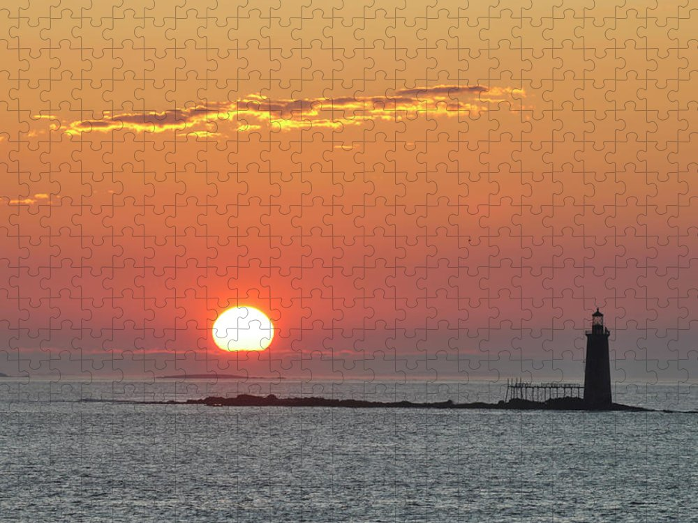 Scenics Puzzle featuring the photograph Sunrise by Aimintang