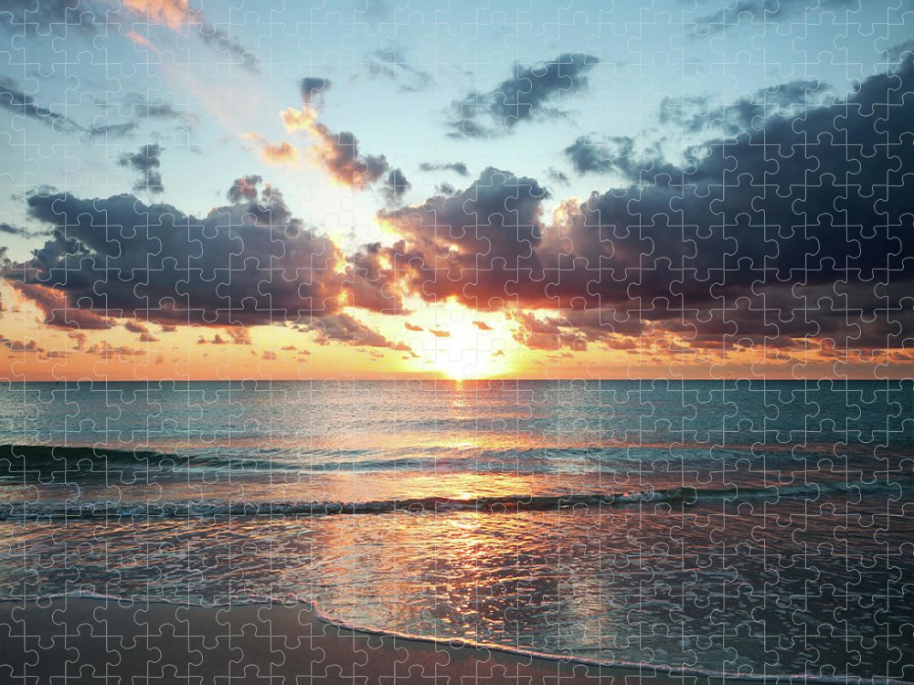 Scenics Puzzle featuring the photograph Sunrise In Miami by Tovfla