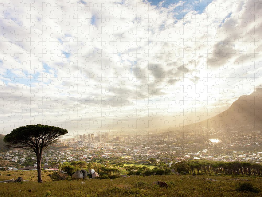 Scenics Puzzle featuring the photograph Sunrise Over Cape Town South Africa by Epicurean