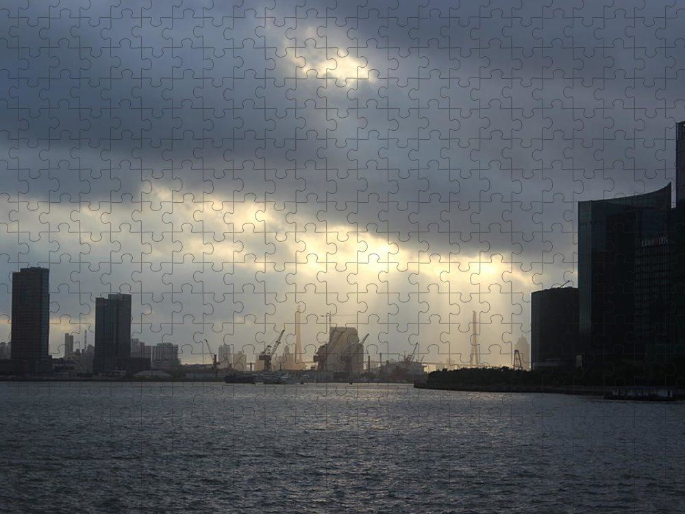 Tranquility Puzzle featuring the photograph Sunrises On The Bund Img_2525 by Xiaozhu Yuan
