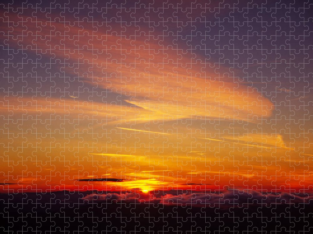 The End Puzzle featuring the photograph Sunset Near Taos, New Mexico, Usa by Diane Miller