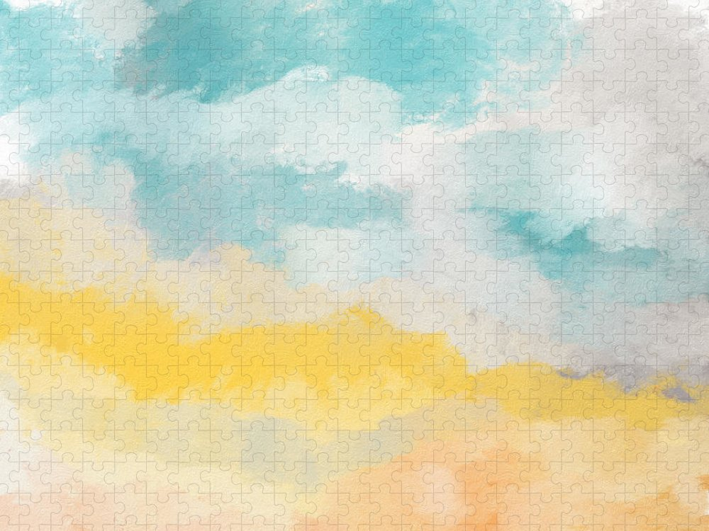 Landscape Puzzle featuring the mixed media Sunshine Day- Art by Linda Woods by Linda Woods