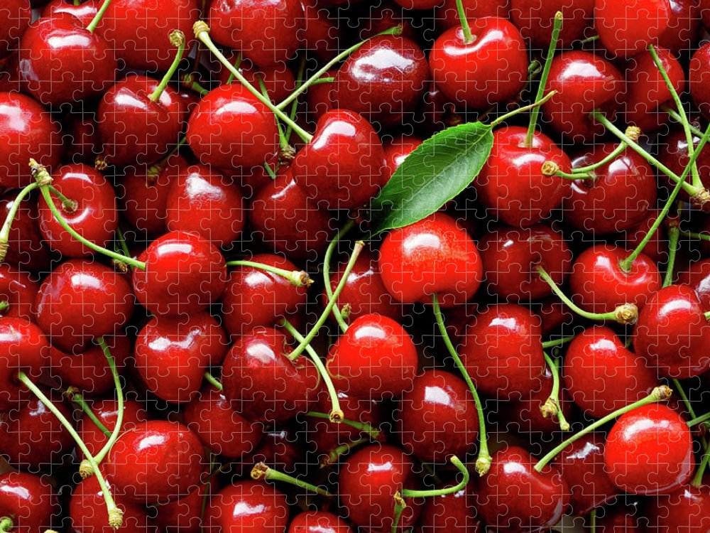 Cherry Puzzle featuring the photograph Sweet Cherries by Filonmar