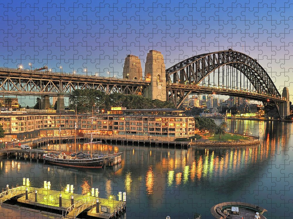 Built Structure Puzzle featuring the photograph Sydney Harbour Bridge by Warwick Kent
