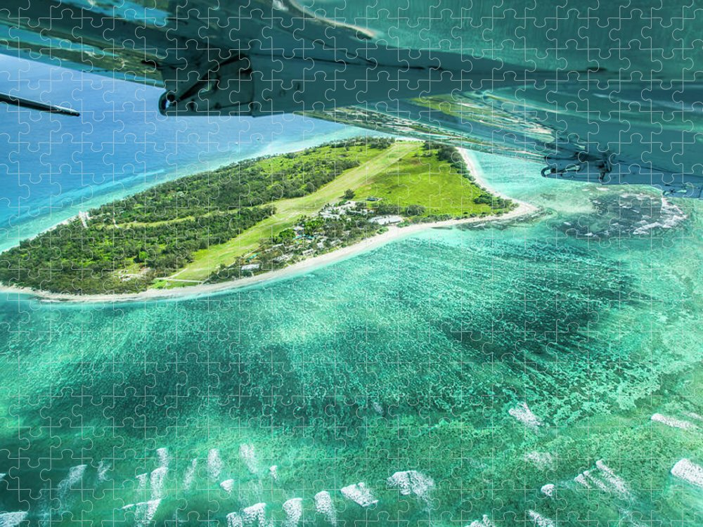 Grass Puzzle featuring the photograph Taking Off From Great Barrier Reef by Nick