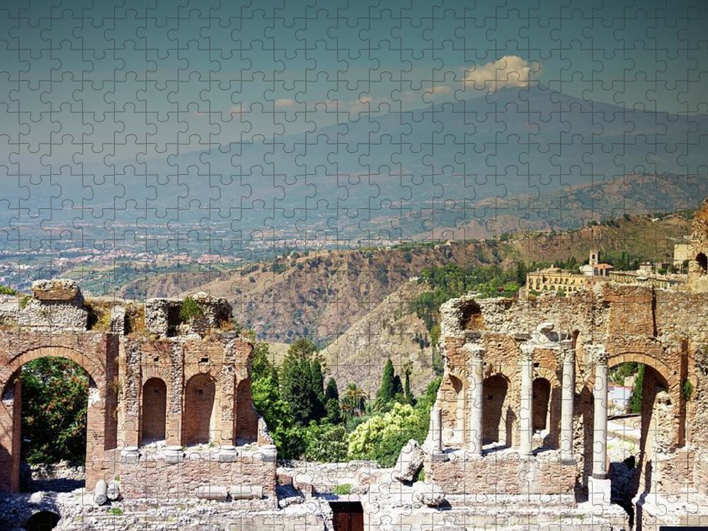 Greek Culture Puzzle featuring the photograph Taormino, Sicily, Italy by Design Pics / Patrick Swan