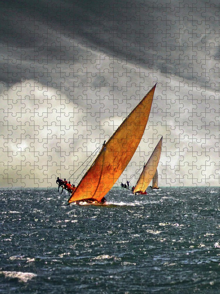 Kenya Puzzle featuring the photograph The Art Of Swahili Dhow Racing by David Schweitzer