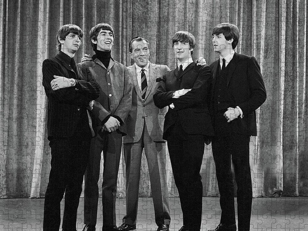 The Beatles Puzzle featuring the photograph the beatles and ed sullivan - February, 1964 by Mountain Dreams