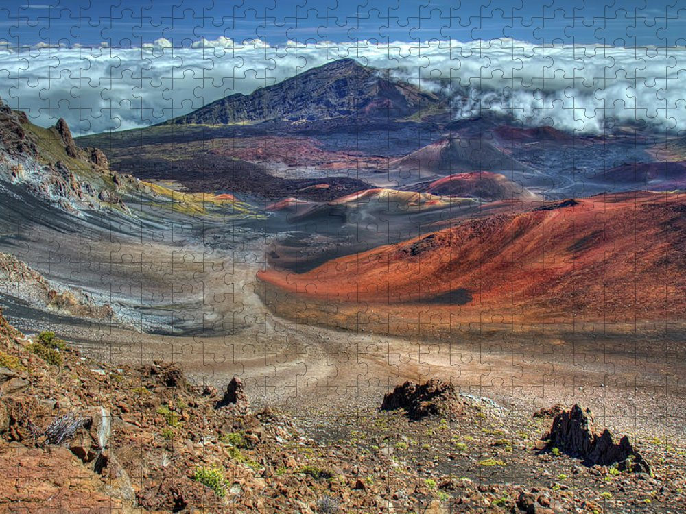 Scenics Puzzle featuring the photograph The Colorful Haleakala Crater, Maui by Pierre Leclerc Photography