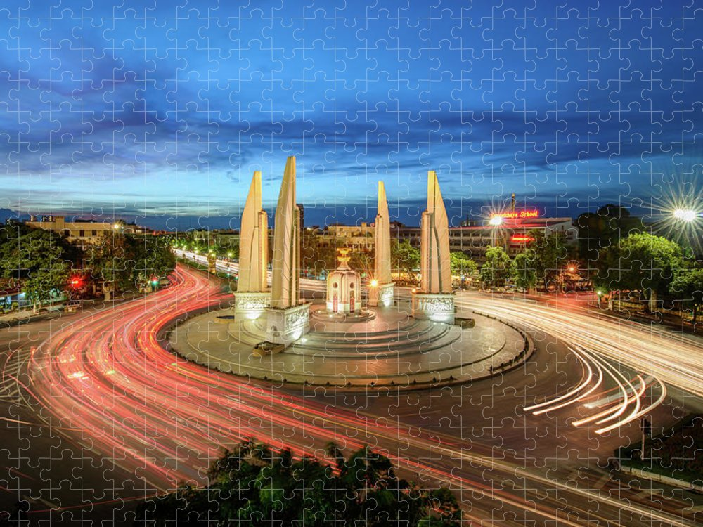 Built Structure Puzzle featuring the photograph The Democracy Monument by Thanapol Marattana