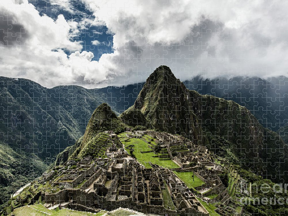 Scenics Puzzle featuring the photograph The Inca Trail, Machu Picchu, Peru by Kevin Huang