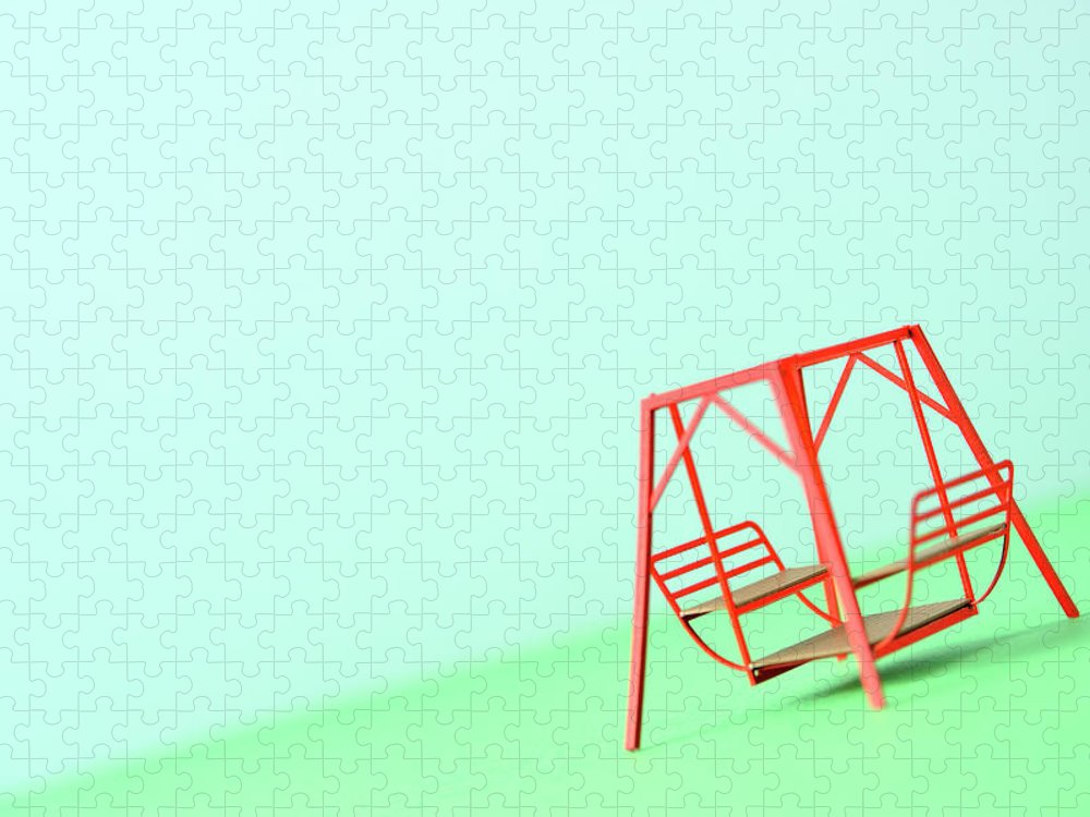 Paper Craft Puzzle featuring the photograph The Model Of The Swing Made Of The Paper by Yagi Studio