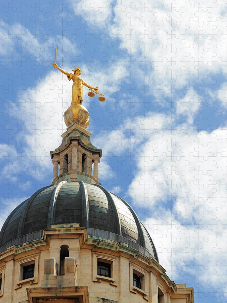 Statue Puzzle featuring the photograph The Old Bailey, Central Criminal Court by Peter Dazeley