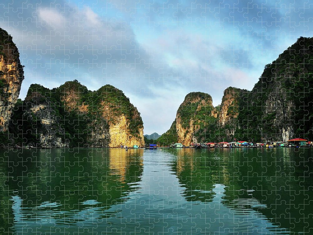 Scenics Puzzle featuring the photograph The Scenic Of Halong Bay by Photo By Sayid Budhi