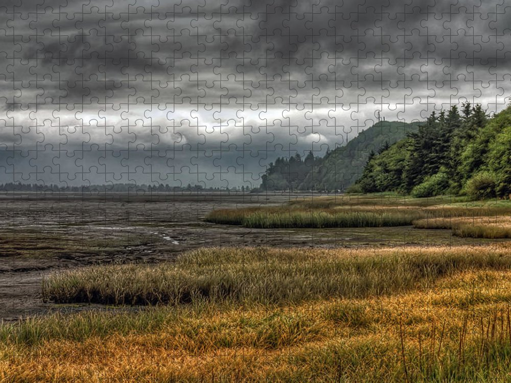 Scenics Puzzle featuring the photograph Tillamook Estuary by Photo By Ryan J. Zeigler